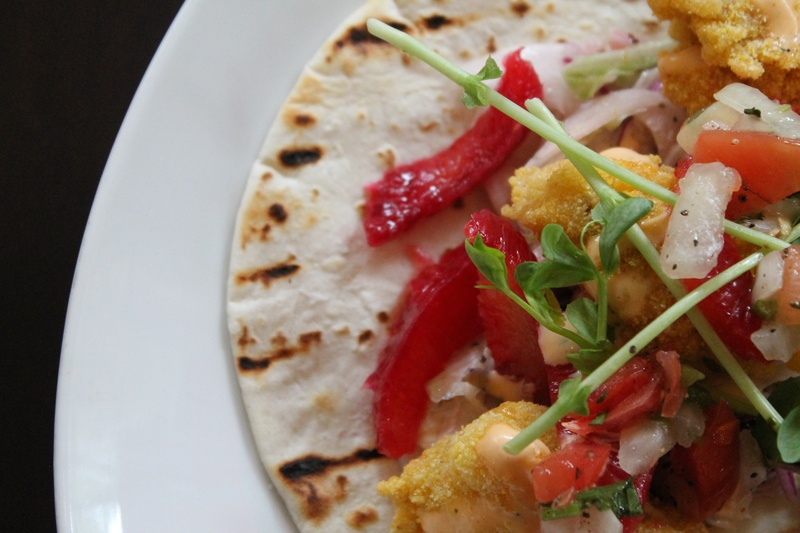 Fried oyster tacos at Line & Lariat. Courtesy of Hotel Icon