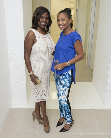 12 Sharon Henderson Sandersons, left, and Jackie Fair at the Vitenas party December 2014