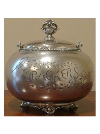 News_Bob Lanier_estate sale_May 2012_silver crackers container
