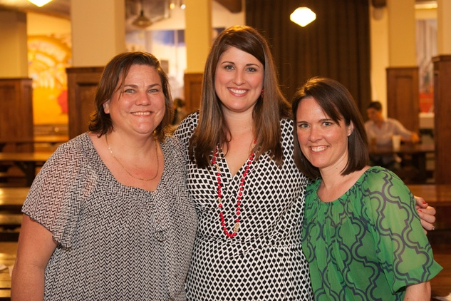 Dr. Mary Kay Koenig, from left, Lori Martin and Elizabeth Baker at the PALS event June 2014