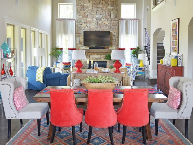 Houzz Forth Worth House Home Color Happy Country Living Dining Room Living Part 67