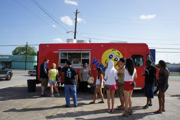 Houston Food Park grand opening Yummy'z truck