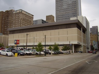 Houston Chronicle headquarters, back side of building