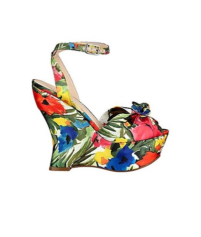 guess jobina floral print wedges