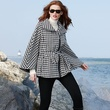 Calvin Klein Coat, Houndstooth-Check Cape