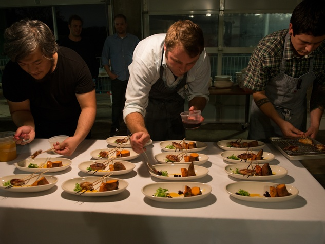 Make Eat Drink in Austin Shion Michael Zach Hanson Plating On Kreeger