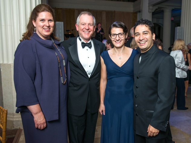 34 Barbara and Pat McCelvey, from left, and Julia and Andrés Orozco-Estrada at Houston Symphony Opening Night Gala September 2014