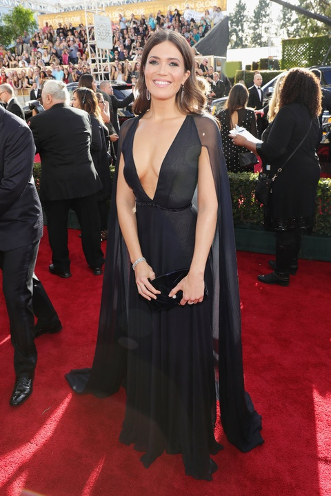 Mandy Moore at Golden Globes