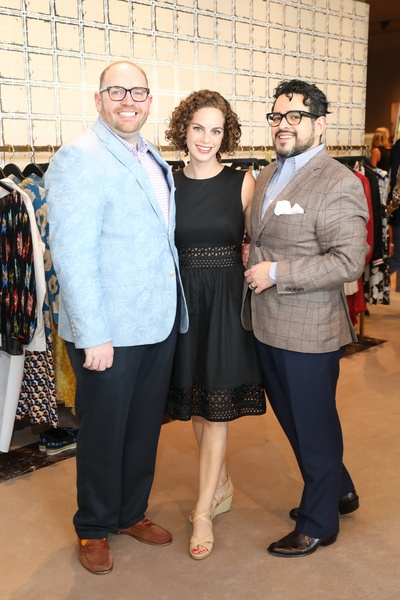 Darrin Davis, Emily Schrieber, Mario Emundsson at Houston Grand Opera party at The Webster