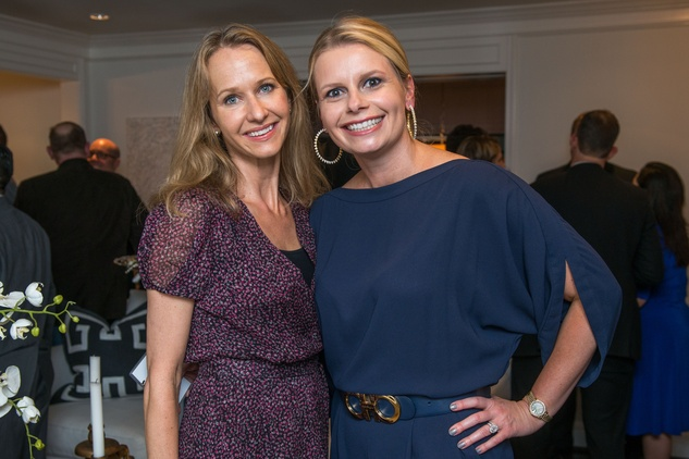 9 Amy Thompson, left, and Valerie Dieterich at the HGO Young Patrons Kick-off September 2014