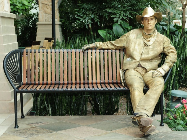 Golden cowboy at Gaylord Texan Resort in Grapevine