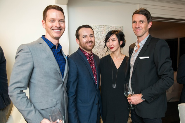 14 Brian McCulloch, from left, Jeremy Garcia, Carrie Brandsberg-Dahl and Sverre Brandsberg-Dahl at the HGO Young Patrons Kick-off September 2014