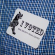 26 I Voted sticker at the Young Professionals Grand Prix kick-off party June 2014