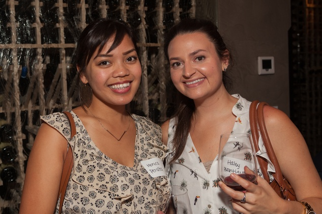 Monica Peralta, left, and Haley Bartley at Casa de Esperanza Young Professionals party July 2014