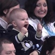 Kid screams for hockey