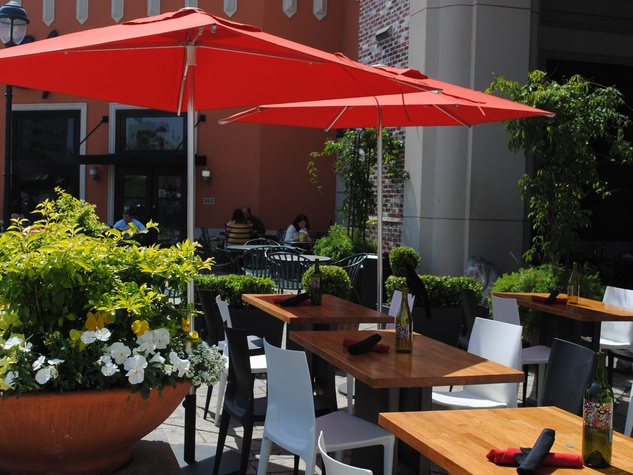 1252 Tapas Bar Uptown Park patio with umbrella