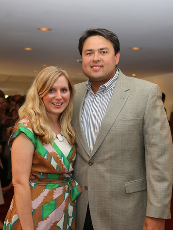Alley Theatre Young Professionals Kick-Off June 2013 Katie Papetti, Ryan Papetti