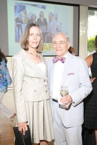 2 Anita Garten and Mickey Rosenau at the HFAF Launch at the Asia Society June 2014