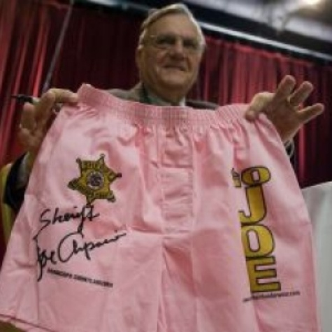 Austin Photo: News_Joe Arpaio_Pink Underwear