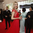 Lily Donaldson in Topshop gown at Met Costume Institute Gala
