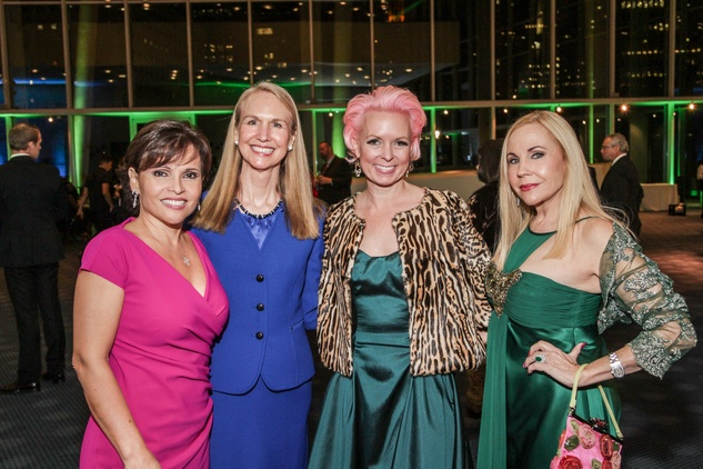 Lucia Cordua, from left, Catherine Flaitz, Vivian Wise and Carolyn Farb at the Bering Omega's Sing for Hope Event October 2014