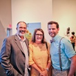 Lawndale Art Center The Big Show VIP reception July 2013 Andy Dearwater, Camille Warmington and Will Isbell