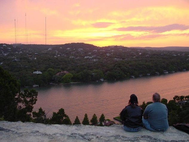 Mount Bonnell sunset