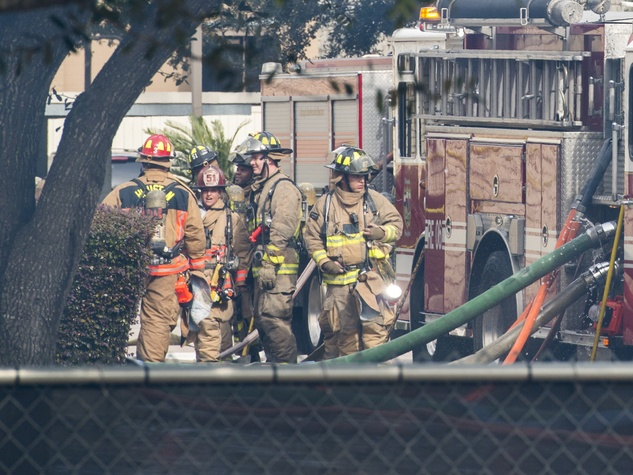 2 Remington Park Apartments fire January 2014 firefighters