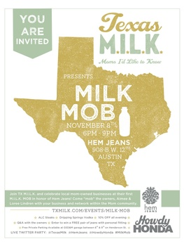 Austin Photo_Events_Texas MILK Mob_Poster