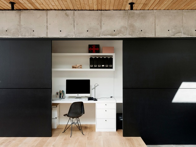 Houzz Houston house home Japanese-style concrete box office