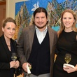Rebecca Eaton, from left,  Sebastian Campos and Amy Purvis at the MFAH Contemporary party January 2014