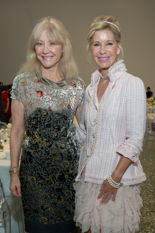 Astrid VanDyke, Penelope Wright at Oscar de la Renta fashion show at MFAH