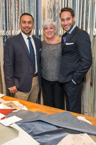 Aidan Garcia From Left Nancy Weintraub And Michael Flores At The Decorative Center Houston
