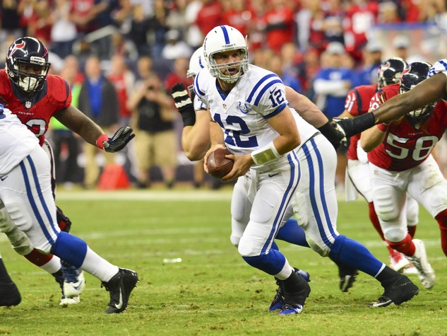 Andrew Luck Texans Colts wide