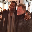 Michael Strahan, Jon Bon Jovi at Kenneth Cole show February 2014