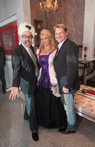 70 Michael Pearce, from left, Magan M. Hunt and Matt Burrus at the Stages Repertory Theatre Soiree Marie October 2014