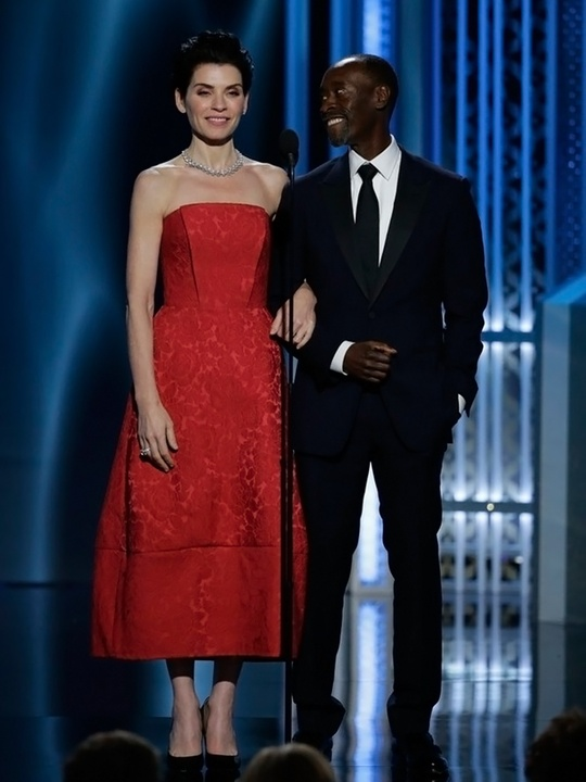 1 Julianna Marguiles and Don Cheadle Golden Globes fashion January 2015