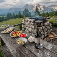 Whole Journeys food spread in the Dolomites