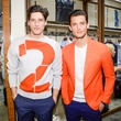 Ryan Kennedy and Garrett Neff at Ferragamo opening in New York