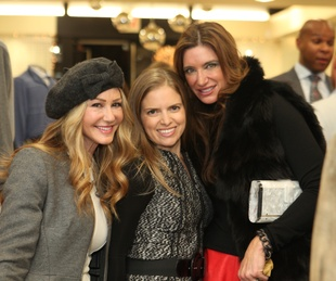 1812 Patti Murphy, from left, Luba Bigman and Melissa Mithoff at the Festari for Men Christmas Party December 2013