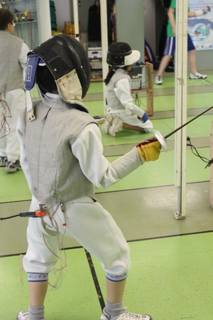 Salle Mauro Fencing, Child, June 2012