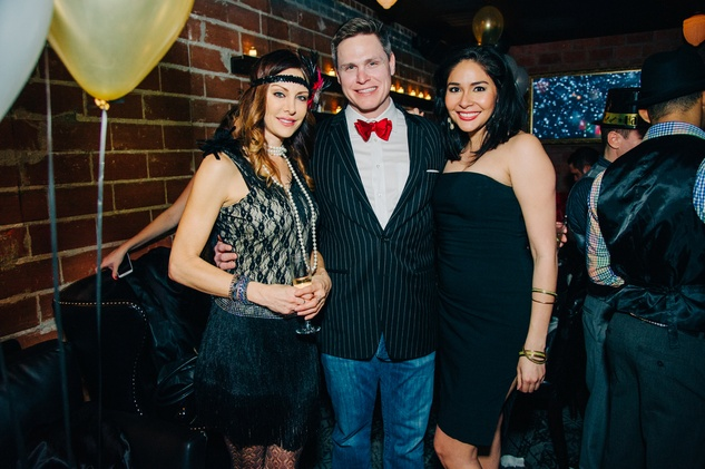 Pam Green, from left, Chris Cantell and Stefanie Perez at New Year's Eve at Local Pour January 2015