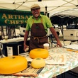 Cheesemaker at white Rock Local Market in Dallas