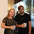 Saralene Tapley and Brian Keith Gardner at the Lawndale Big Show preview party July 2014