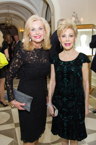 49 Pat Breen, left, and Margaret Alkek Williams at the Zadok jewelry dinner October 2014