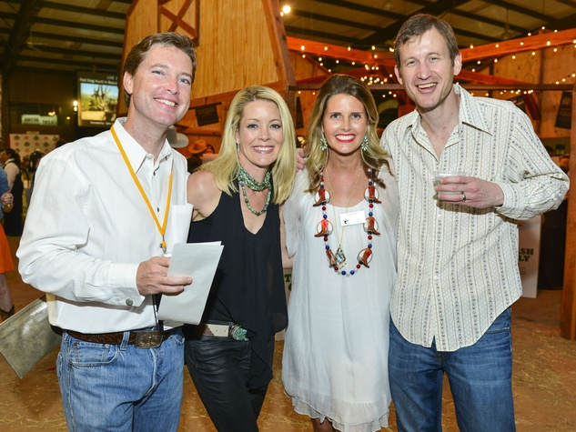 9 Sam and Missy Pitts, from left, and Catie and Brian Ross at the Cattle Barons Ball April 2014