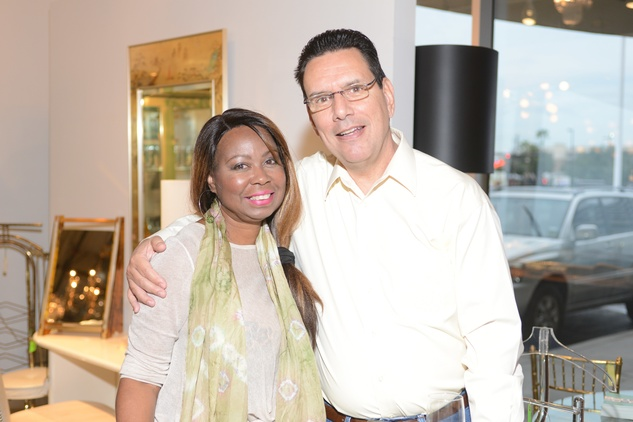 1 Alicia Murray and Greg Candelaria at the Houston Antique + Art + Design Show September 2014