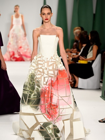 Fashion Week spring 2015 Carolina Herrera floral gown