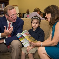 News, Shelby, AdvoCare reading event, August 2014, Neil Bush, Maria Bush