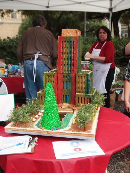 Architecture Center Houston and AIA Houston Gingerbread Build-off winners December 2014 Best Architectural Icon